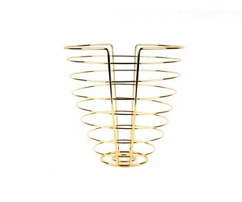Patera na owoce Linea Cone gold plated by pt