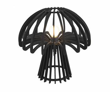 Lampa stołowa Traditional Mushroom wood black by Leitmotiv