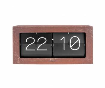 Zegar stołowo/ścienny Flip Clock Boxed XL rusted finish by Karlsson