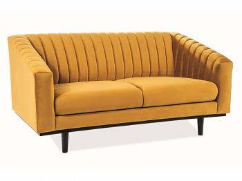Sofa Asprey 2 velvet curry, wenge