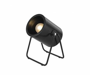 Lampa stołowa  Hefty rubber wood black round by Leitmotiv