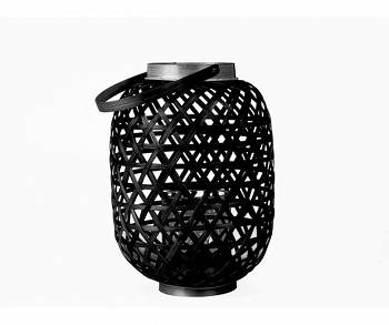 Lampion Lattice Bamboo black M by pt,