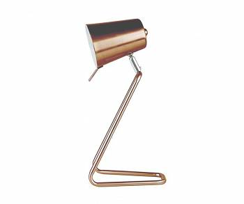 "Lampa biurkowa ""Z"" copper satin  by Leitmotiv"