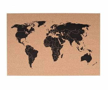 Tablica korkowa World Map by pt,