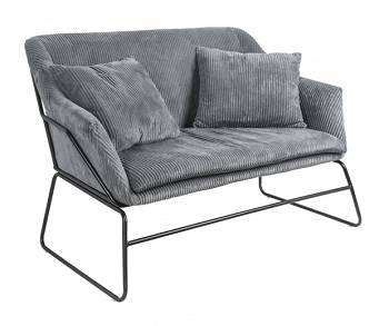 Sofa Glam dark grey by Leitmotiv