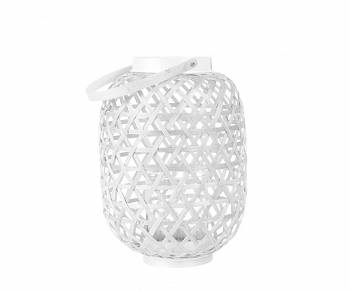 Lampion Lattice Bamboo white M by pt,