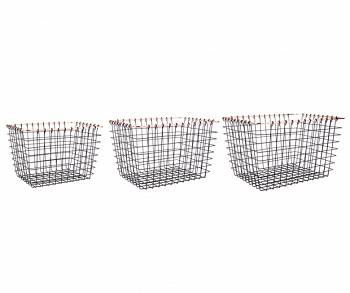 Zestaw koszy rectangle Set of 3 by pt,