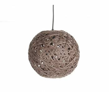Lampa sufitowa Nest M kula dark brown by Leitmotiv