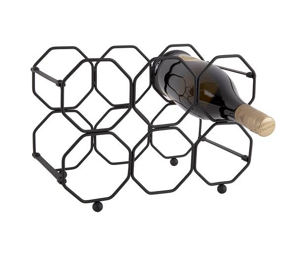 Stojak na wino Honeycomb black by pt,