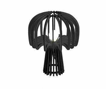 Lampa stołowa Globular Mushroom wood black by Leitmotiv