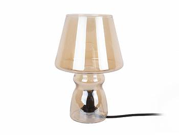 Lampa stołowa Classic Glass amber brown by Leitmotiv