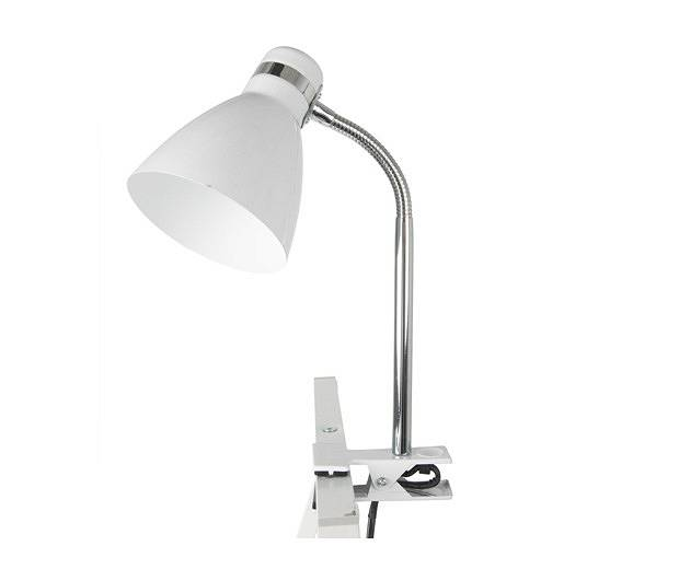 Lampa biurkowa Study Clip On metal white  by Leitmotiv